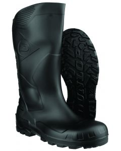 Black Rubber Safety Boot with steel toe