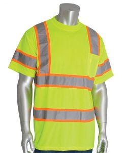Class 3 Yellow Short Sleeve T-Shirt With Two Tone Striping
