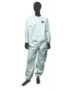 Disposable (Coated) Microporous Coverall, Elastic Wrist, Elastic Back, Elastic Ankle