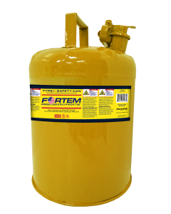 FORTEM Type I Yellow 5 Gallon Safety Can