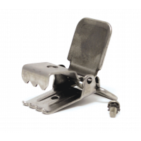 Stainless steel replacement clip with screw.