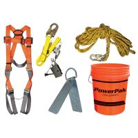 Roofing fall protection kit