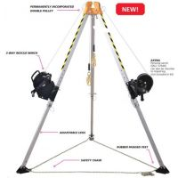 ARRESTA Confined Space Retrieval System, includes 7' Megapod, 60' 3-way winch with galvanized cable, mounting bracket and storage bag