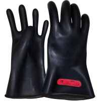 """LINEPRO Class 0, Electrical Insulating, Rubber, Lineman Glove, 11"""" Length, Date Stamped"""