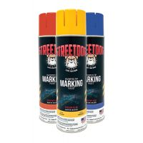 STREETDOG Water Based Marking Paint, 17 Oz, 12 cans/ Pkg